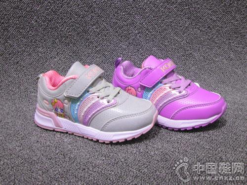 酷奇童鞋2018新款舒适透气女童运动鞋