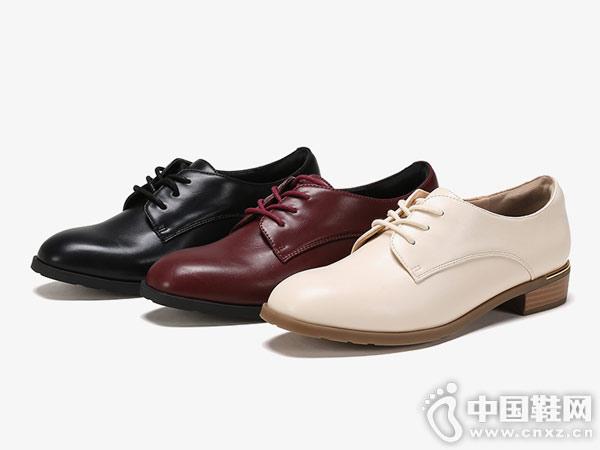 杜拉拉女鞋2018休闲粗跟单鞋