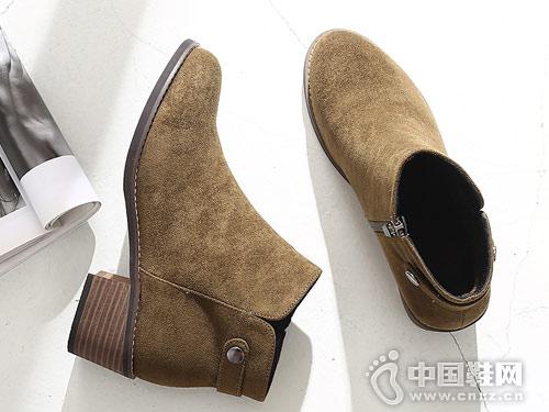 比佳妮新款冬季马丁靴英伦风复古绒面