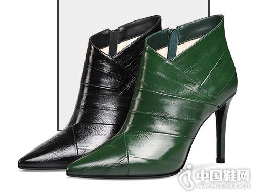 真皮裸靴2018冬季妙龄妙品新款
