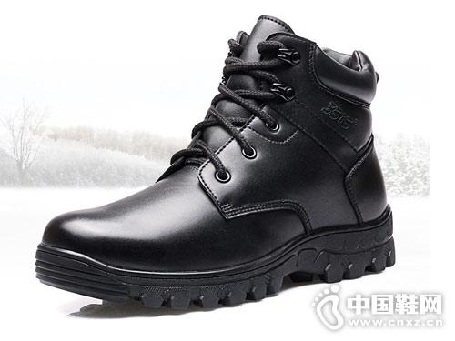 强人3515军靴男冬季真皮保暖马丁靴