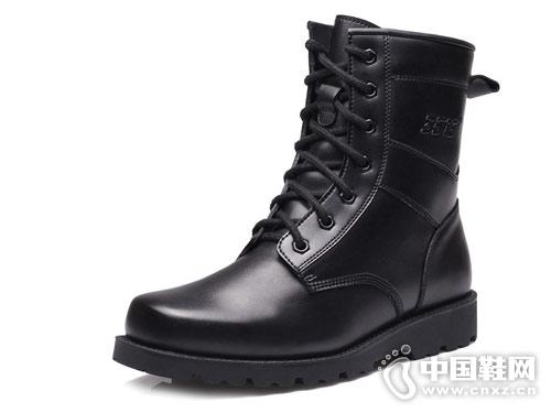 真皮高帮防寒雪地靴强人3515军靴