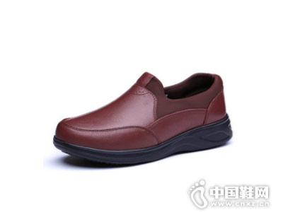 正品张凯丽休闲皮鞋 足力健皮鞋送爸妈时尚有面子