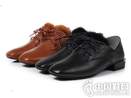 2018新款丹露一脚蹬小皮鞋