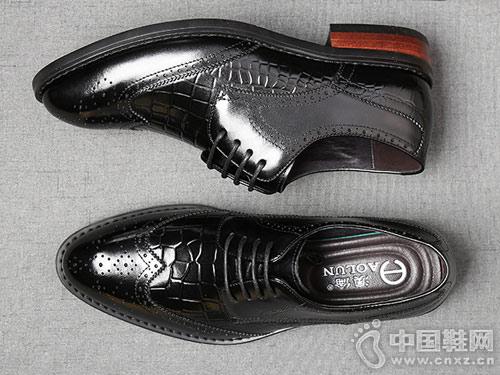 冬季男士商务正装皮鞋澳伦休闲鞋