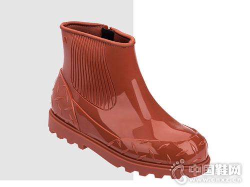 18秋撞色防滑女士短筒Melissa梅丽莎雨靴