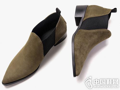 切尔西靴女2018秋冬新款白领丽人小跟短靴