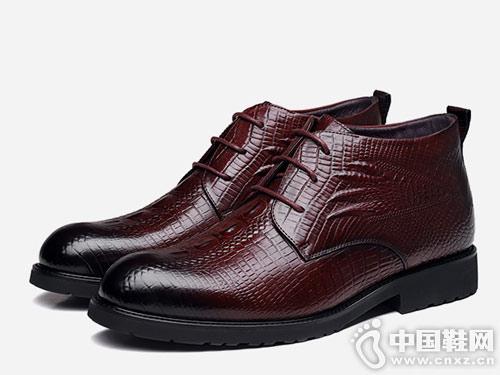 犀牛男鞋冬季新款皮靴男士冬季鞋