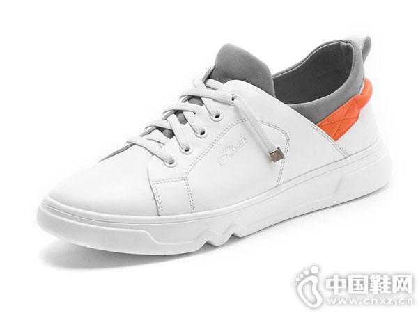 新款休闲小白鞋宾度J.benato男韩版板鞋