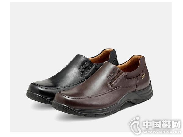 新款暇步士Hush Puppies 套脚平底休闲皮鞋
