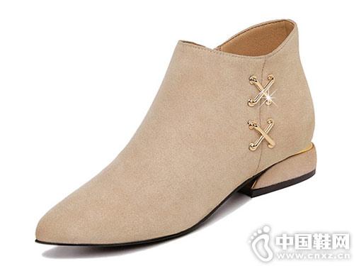 小短靴女2018新款短筒古奇天伦切尔西靴