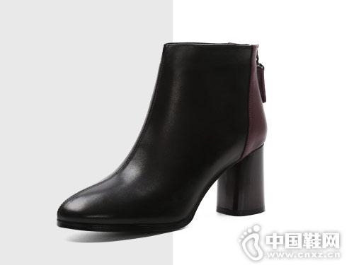 小短靴女冬2018新款克克女鞋