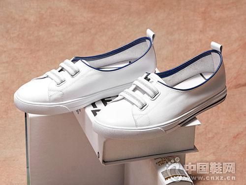 色非2018新款百搭小白鞋女真皮平底鞋
