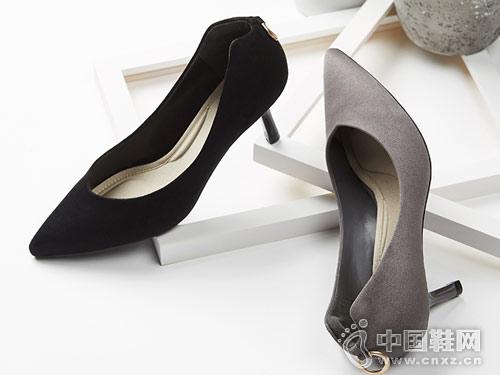 18春季新款杜拉拉细跟尖头浅口高跟鞋