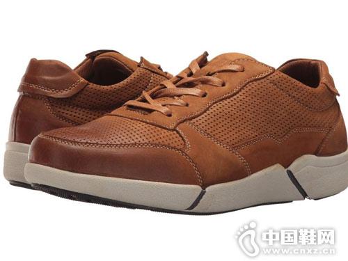 Propet波派男鞋低帮休闲皮鞋
