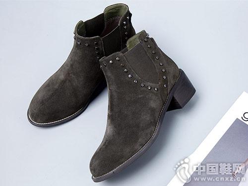 斯莱曼蒂chic短靴女平底马丁靴
