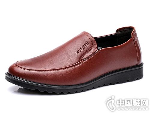 新款强人3515男鞋真皮中老年爸爸鞋