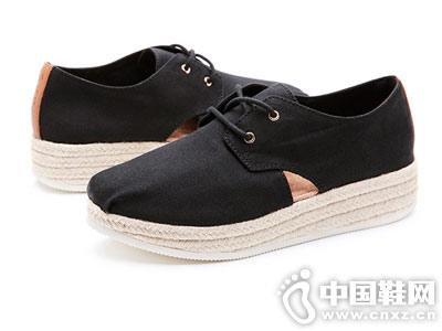 jm快乐玛丽2019春季新款松糕渔夫鞋