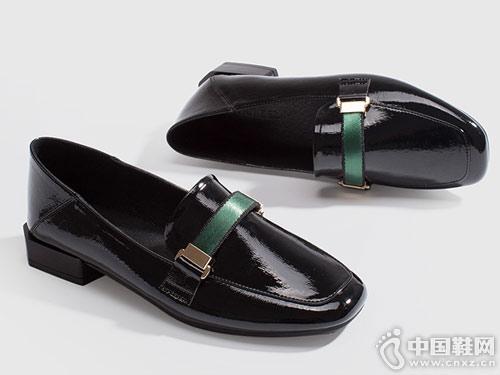 如熙2019春季新款单鞋乐福鞋