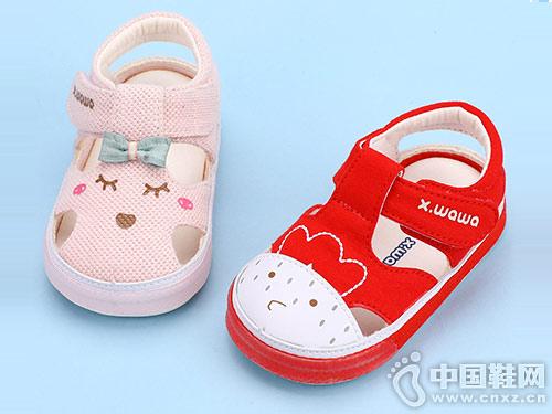雪娃娃新款夏天婴儿凉鞋宝宝学步鞋