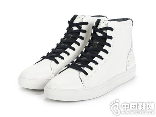 SELECTED思莱德男士新款雕花高帮休闲鞋