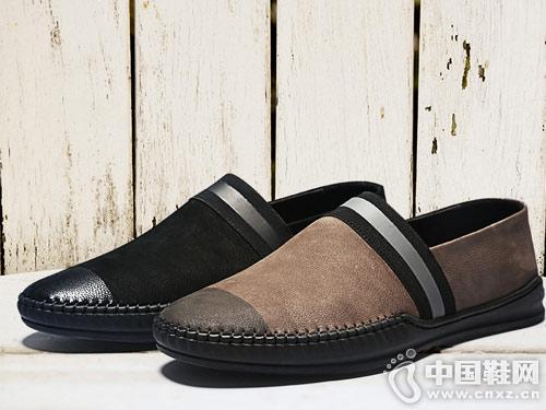 惠特男鞋真皮休闲鞋夏季透气豆豆鞋