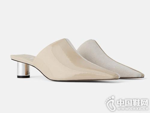 时尚后空尖头单鞋世尊2019女新款