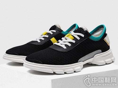 OZZEG透气网鞋男新款复古潮鞋飞织鞋
