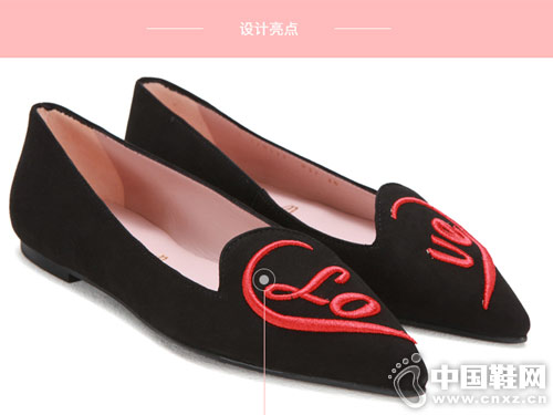 prettyballerinas黑色绒面女芭蕾舞平底鞋