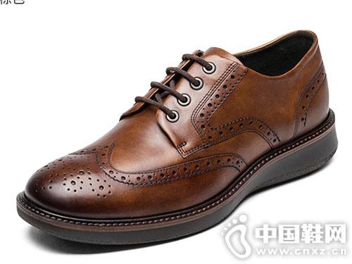 ECCO爱步时尚拷花精致男士皮鞋