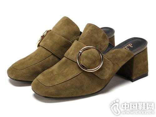 杜拉拉春秋羊皮后镂空时装高跟女鞋