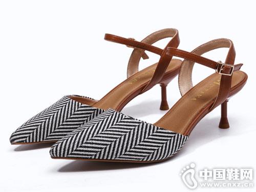2019米薇卡高跟凉鞋女细跟尖头女鞋