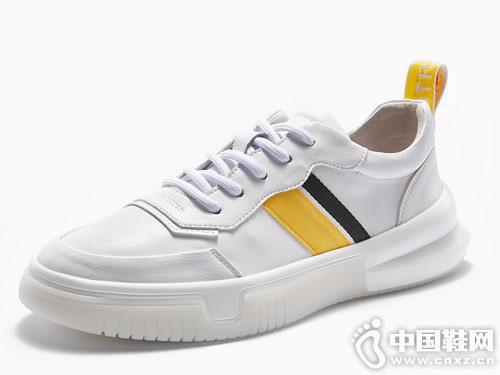 维界男鞋白色板鞋休闲鞋新款