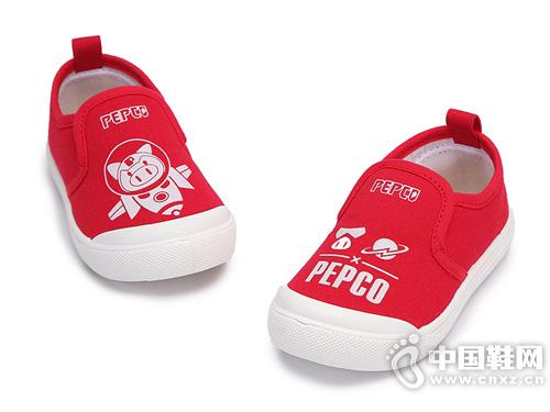 小猪班纳童鞋男女童低帮帆布鞋
