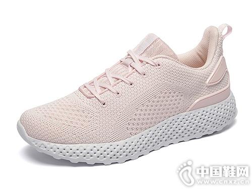 �琪2019新款女跑鞋透�饩W面跑步鞋