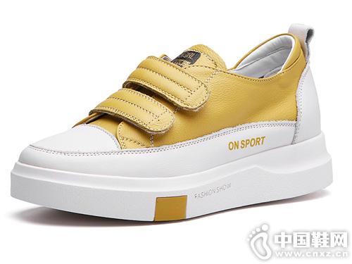 2019春季新款板鞋杰豪真皮小白鞋