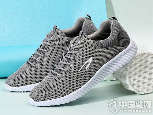 德尔惠男鞋春季运动鞋网面跑鞋