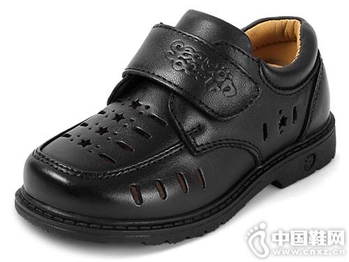 四季熊童鞋黑皮鞋演出鞋镂空英伦风