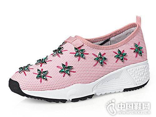 cover卡文春季手工缝钻透气休闲运动单鞋