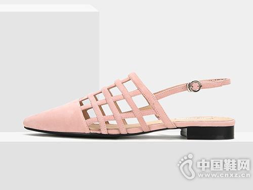 ONDUL圆漾2019年春夏新品单鞋女网格凉鞋