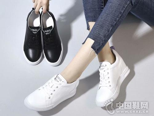 百搭舒适小白鞋慕兰茜MULANXI新款