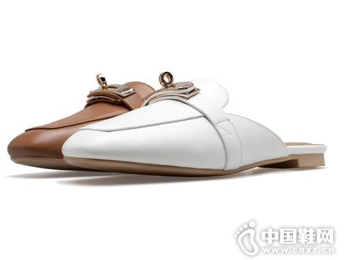 欧米高女鞋新款=平跟休闲拖鞋