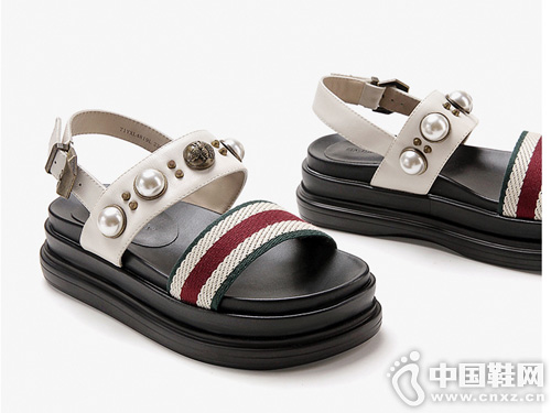 白领丽人厚底凉鞋女夏季新款百搭松糕凉鞋