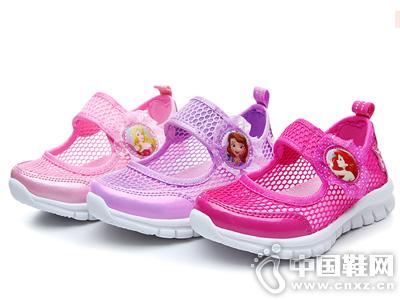 2019夏季新款迪士尼女童魔术贴网鞋公主鞋