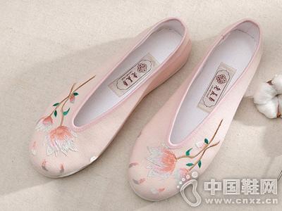 老美华老北京绣花鞋女手工千层底布鞋