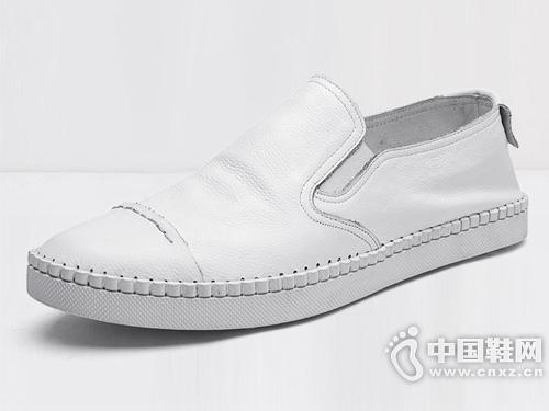 惠特男鞋真皮小白鞋男潮流板鞋
