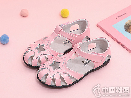2019新款小林川子儿童镂空女童凉鞋