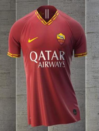 耐克发布罗马2019/20赛季主场球衣