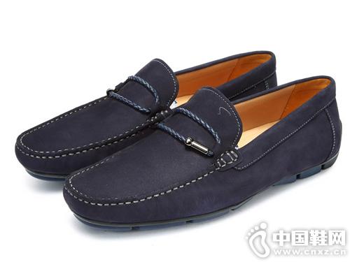 套脚驾车鞋 沙驰男鞋休闲皮鞋