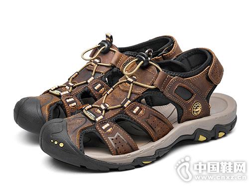 鳄鱼皮凉鞋cartelo米斯特林夏季软底牛皮沙滩鞋